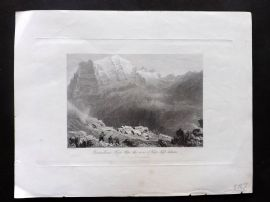 Fisher (Pub) 1846 Antique Print. Dormeilleuse, High Alps. France